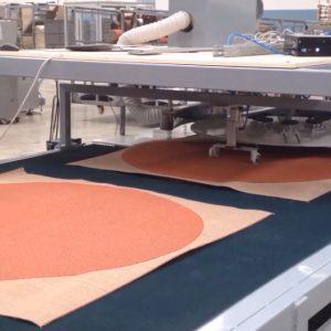 دستگاه برش دایره ای فرش با دوربین حساس بدون خطا